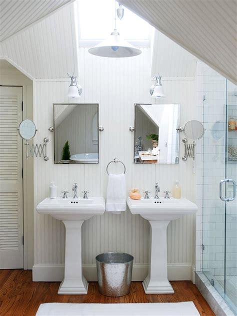 design ideas small white bathroom vanities: white beadboard bathroom cottage bathroom bhg