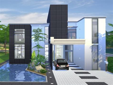 Japanese Apartment Design by The Sims Resource Onyx Modern House By Chemy Sims 4