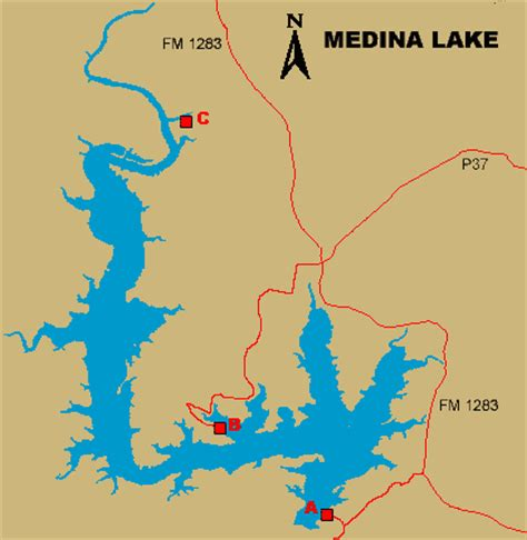 texas bank fishing map medina lake access