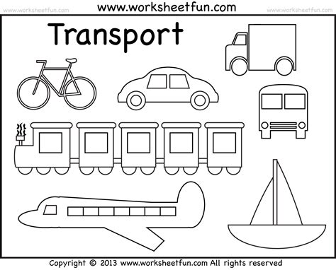 preschool coloring pages transportation free coloring pages of means of land transport