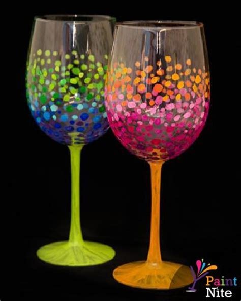 paint nite wine glasses paint nite special drinkware event 01 16 15