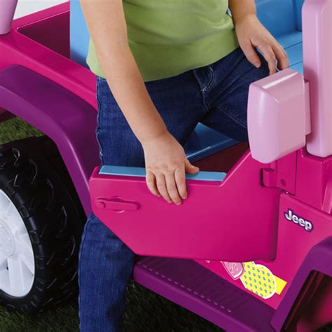 barbie cars with back seats power wheels 174 barbie jammin jeep 174 wrangler shop power