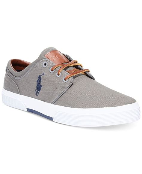 polo ralph ralph faxon sneakers in gray for