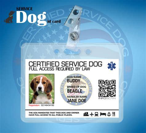 ada service card customizable title assistance service id card for