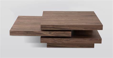 modern coffee table modrest modern walnut coffee table