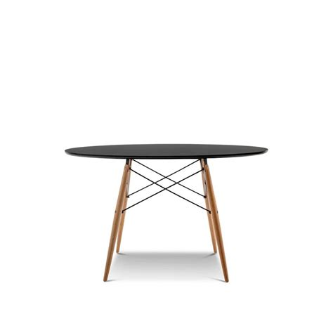 Replica Dining Tables Eames Dsw Large Dining Table Replica In Black Buy Furniture