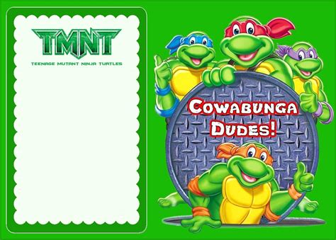 tmnt birthday card template turtle shell template choice image template design