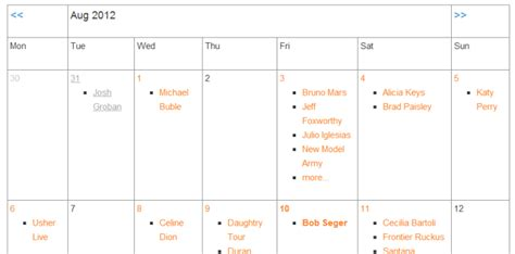 calendar theme layout using event calendars events manager for wordpress