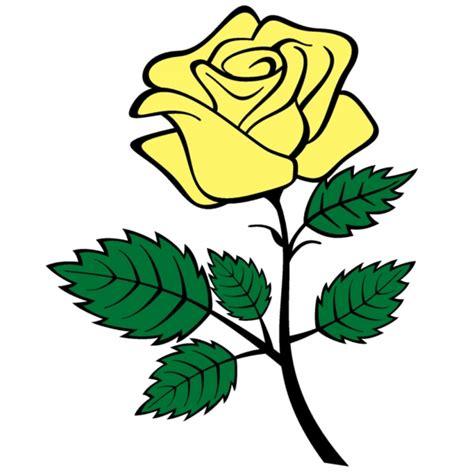 disegno di rosa fiore disegno di rosa a colori per bambini