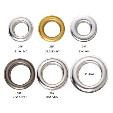 color of nickel metal eyelets grommet for leather crafts with nickel