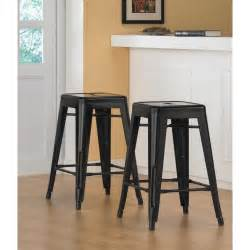 24 Inch Metal Bar Stools Tabouret 24 Inch Black Metal Counter Stools Set Of 2