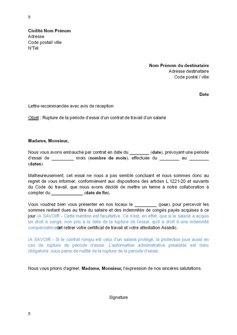 Mod Le De Lettre De D Mission Sans Pr Avis Pdf letter of application mod 232 le lettre de d 233 mission travail