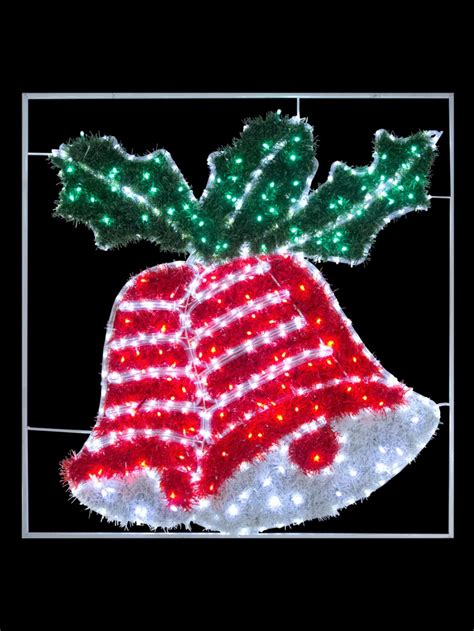 double tinsel bell led rope light motif 1m christmas