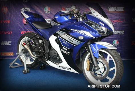 Sparepart Yamaha R25 aripitstop 187 accesories apa saja sich yang nempel di r25