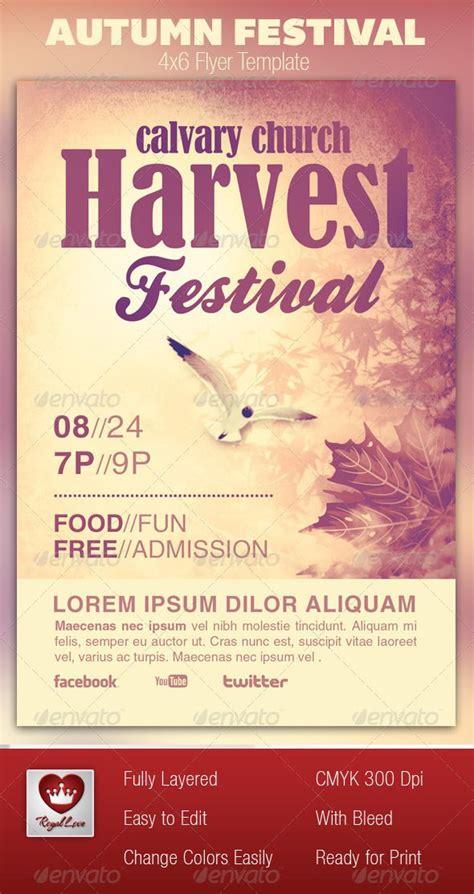 Autumn Festival Church Flyer Template Creative Psd Flyer Templates And Sunday School Sunday School Flyer Template