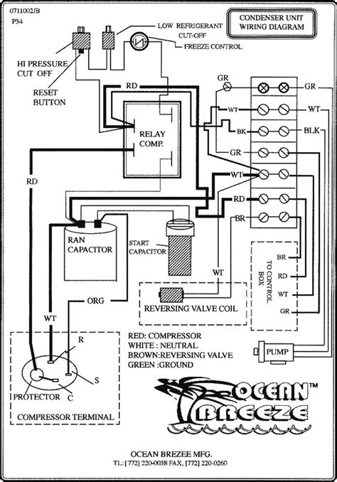 wiring diagram for ac unit condenser unit wiring diagram mfd by