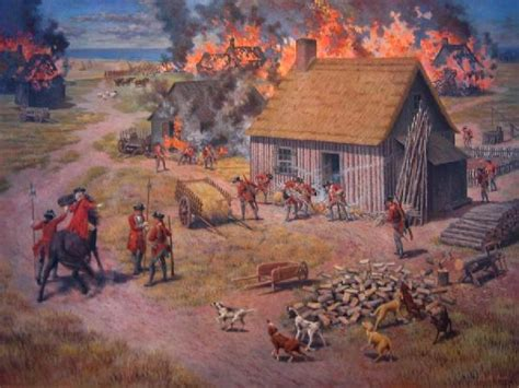 burning acadian homes so they would not return