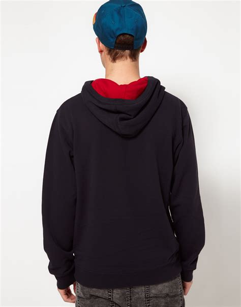 Jaket Vans Jaket Motif Logo Navy lyst vans hoodie classic logo in black for