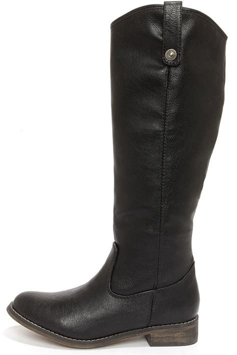 black boots knee high boots boots 45 00