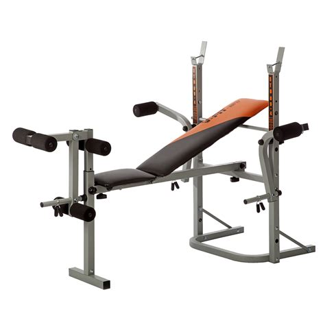 weight training bench v fit stb 09 2 folding weight training bench inc leg