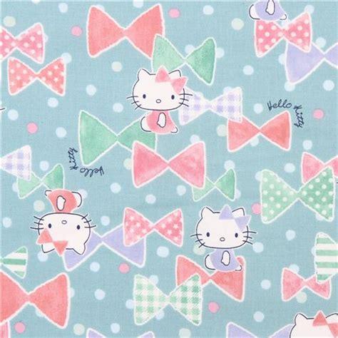 wallpaper hello kitty ribbon mint green hello kitty ribbon confetti oxford fabric by