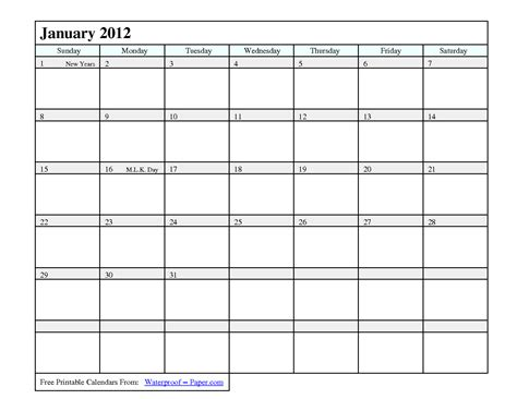 Free Fillable Calendar Template by Printable Calendar 2012 2017 Printable Calendar