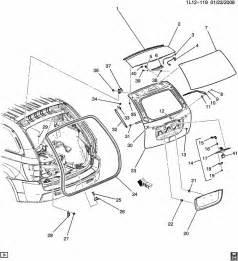 2007 Pontiac Torrent Parts Pontiac Torrent Liftgate Hardware Part 1