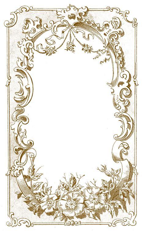 Digital Frame Image   Ornate European   The Graphics Fairy