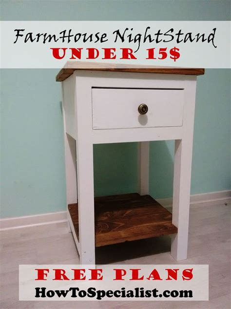 farmhouse bed plans howtospecialist how to build step how to build a farmhouse nightstand howtospecialist