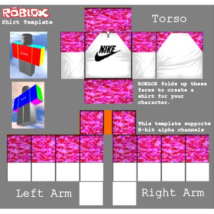 Nike Pro Breast Cancer Roblox Roblox Shirt Template Design