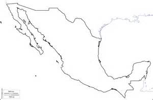 outline map of mexico and the us mexico free map free blank map free outline map free