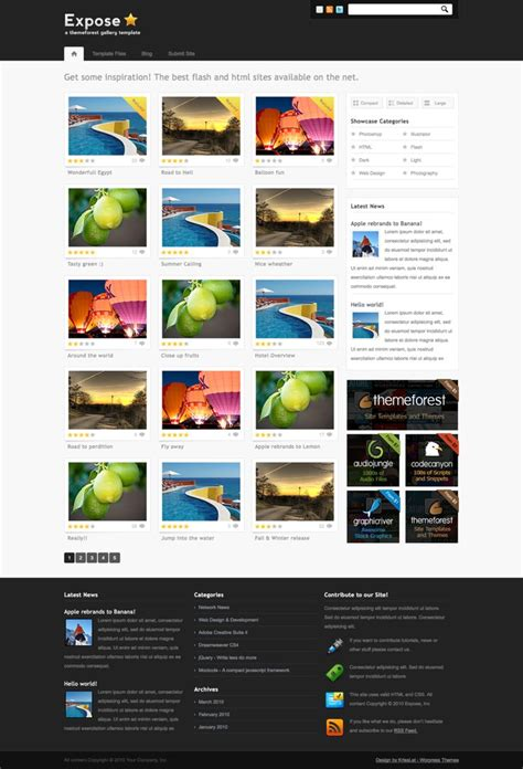 photo gallery themes for wordpress expose gallery wordpress theme by nathanr666 on deviantart