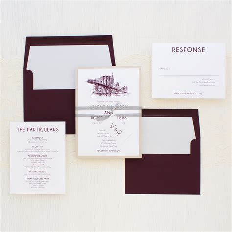Wedding Invitations New York City by New York City Chic Wedding Invitations Beacon