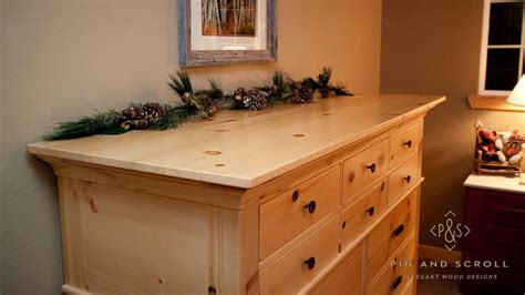 Pine Bedroom Dresser by Knotty Pine Dresser Pinandscroll