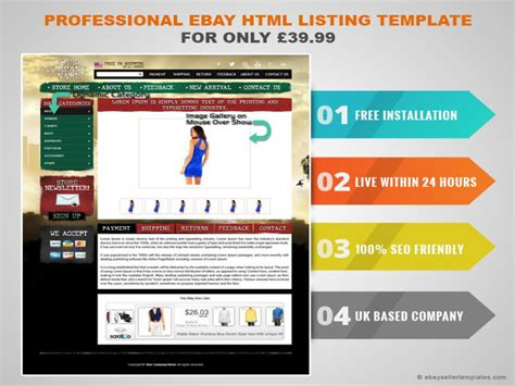 Professional Ebay Html Listing Template For Only 163 39 99 Authorstream Ebay Templates Free Html Code