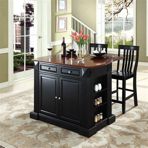 shop crosley furniture black craftsman kitchen island with
