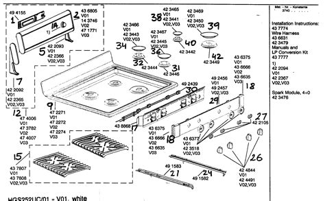 gas stove diagram bosch freestanding gas range oven cavity asy parts model