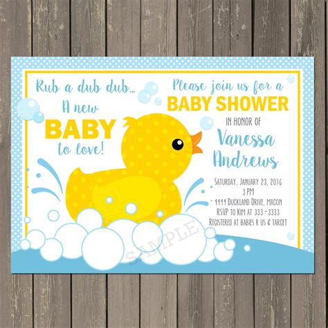 duck baby shower rubber duck baby shower invitation rubber ducky baby shower