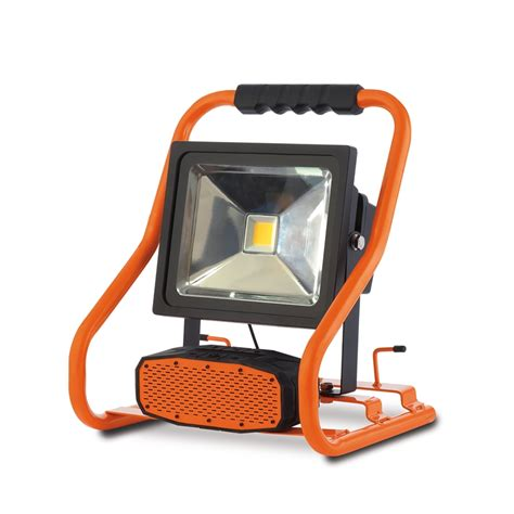 arlec led work light 30w with bluetooth speaker bunnings