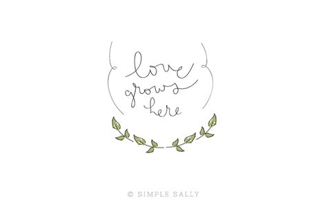 simple fun designs love grows here 187 simple sally