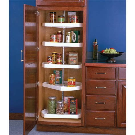 tall kitchen cabinets pantry polymer d shaped lazy susan for tall pantry cabinets by knape vogt kitchensource com