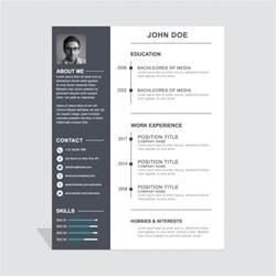 simple resume vector free