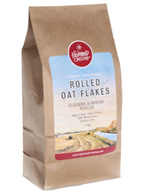 Shelf Of Rolled Oats by Organic Rolled Oat Flakes In Canada Highwood Crossing