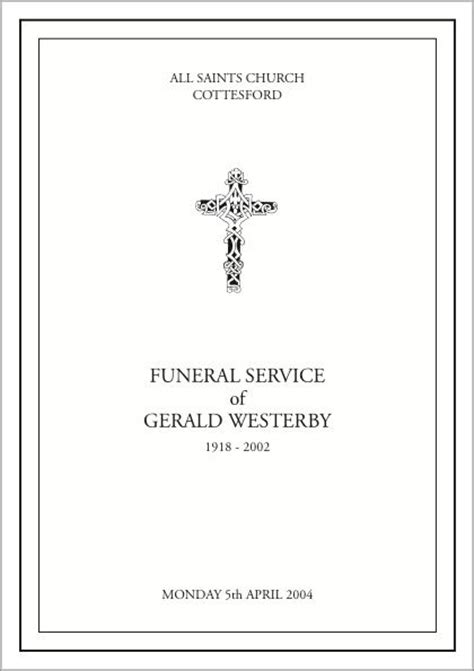 template for order of service funeral 17 best ideas about order of service template on