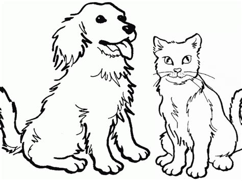 free coloring pages dogs and cats cat color pages printable dog and cat coloring book pages