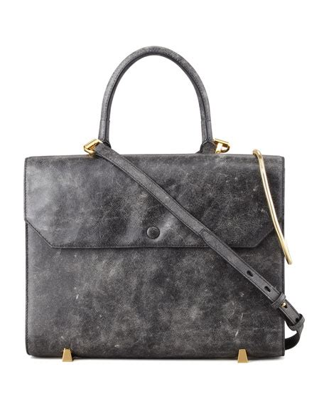 Chastity Handbag Black wang chastity gold sling satchel bag black white