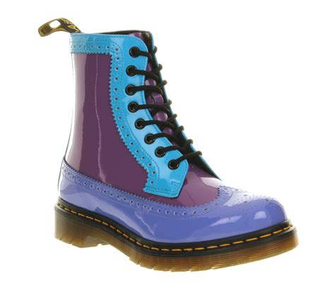 blue boots for womens dr martens harrie brogue boot dusty blue purple