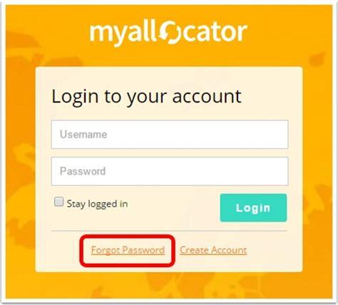 reset vonage online account password how to reset login password for myallocator account