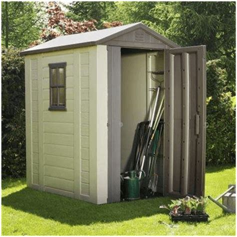 Keter Plastic Compact Garden Shed by The Keter Plastic Apex Shed