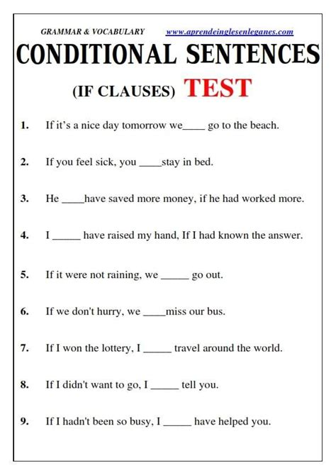 conditional sentence 25 pinterest 789 best english grammar worksheets images on pinterest